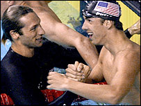Ian Thorpe (left) and Michael Phelps