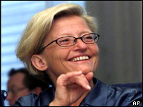 Swedish Foreign Minister Anna Lindh