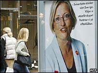 Poster showing Anna Lindh