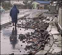 Miyagi earthquake debris
