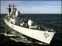 British type 42 destroyer