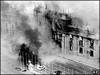 Presidential palace attacked during the 1973 coup