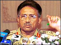 Pakistan President, General Pervez Musharraf