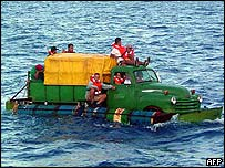 Cuban migrants trying to cross the Straits of Florida 16 July