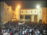 Arafat's headquarters on Thursday night