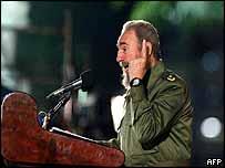Fidel Castro in Santiago