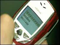 Mobile sending a text