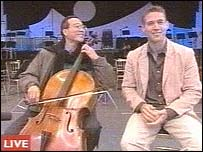 Yo Yo Ma and Alistair Appleton live on Breakfast
