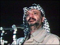 Yasser Arafat in the seventies