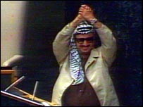 Yasser Arafat at the United Nations in 1974