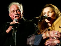 Johnny Cash with wife June, who died in May