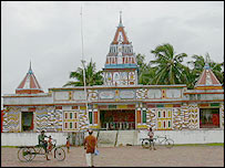 Temple on Sagar island. Picture by Subir Bhaumik