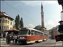 Sarajevo street scene