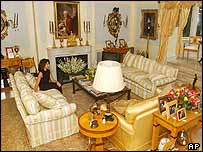 Sir Elton John's sitting room