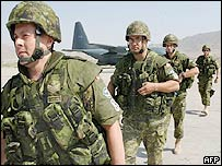 Canadian troops at Kabul airport