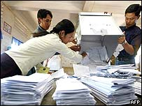 Counting the votes in Phnom Penh