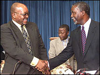 South African Deputy President Jacob Zuma (l) with President Thabo Mbeki