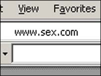Sex.com domain, BBC