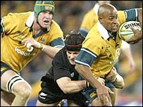 George Gregan is halted as New Zealand overwhelm Australia