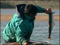 Man with Arctic char   Television Trust for the Environment