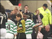 Agathe is shown the red card in controversial circumstances