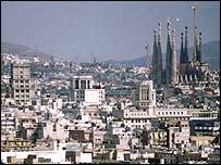 Barcelona skyline