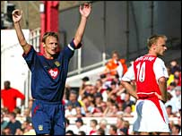 Pompey forward Teddy Sheringham
