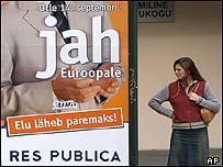 Campaign poster in Tallinn