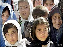Afghan girls in Ghor