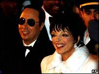 David Gest and Liza Minnelli at their wedding