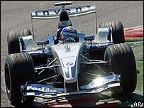Juan Pablo Montoya now trails Michael Schumacher by three points
