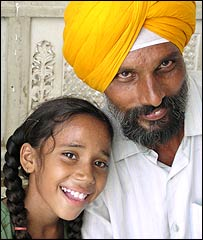 Sikh father and daughter