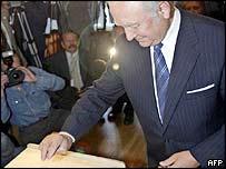 Estonian President Arnold Ruutel