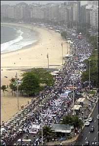 Anti-gun march in Rio de Janeiro