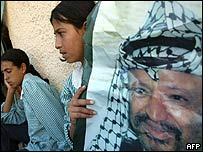 Arafat supporters in Ramallah (archive photo)