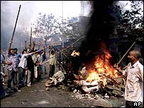 Riots in Ahmedabad, Gujarat in February 2002