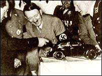 Hitler at the ceremony to begin work on the VW factory
