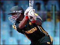 Yousuf Youhana in action in Lahore
