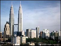 Petronas Towers and Kuala Lumpur skyline