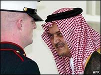 Saudi Foreign Minister Prince Saud al-Faisal arrives at the White House