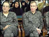 Abbas Abdi (left) and Behrouz Geranpayeh