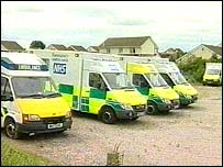 Some of th redundant ambulances