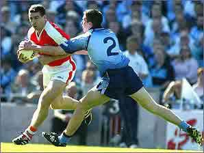 Armagh's Diarmuid Marsden in action against Dublin
