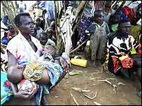 Rebecca Kwekinai and fellow villagers fled their homes in Nyakunde late last year
