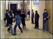 Russian school corridor