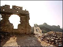 A battered section of the Great Wall of China, at Jinshanling, north-east of Beijing