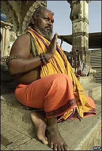 Hindu holy man in Nashik