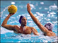 Water Polo action in Sydney