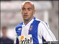 Ivan de la Pena in action for Espanyol