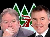 Dafydd Iwan and Ieuan Wyn Jones